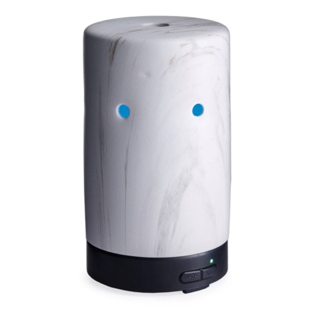 Airome White Marble Glass Essential Oil Diffuser