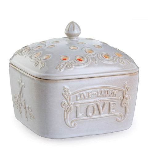 Candle Warmers Live, Laugh, Love Candle Aire Fragrance Warmer