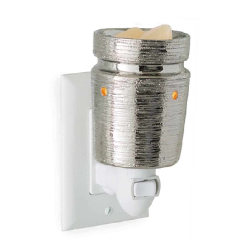 Candle Warmers Brushed Chrome Plug-In Fragrance Warmer