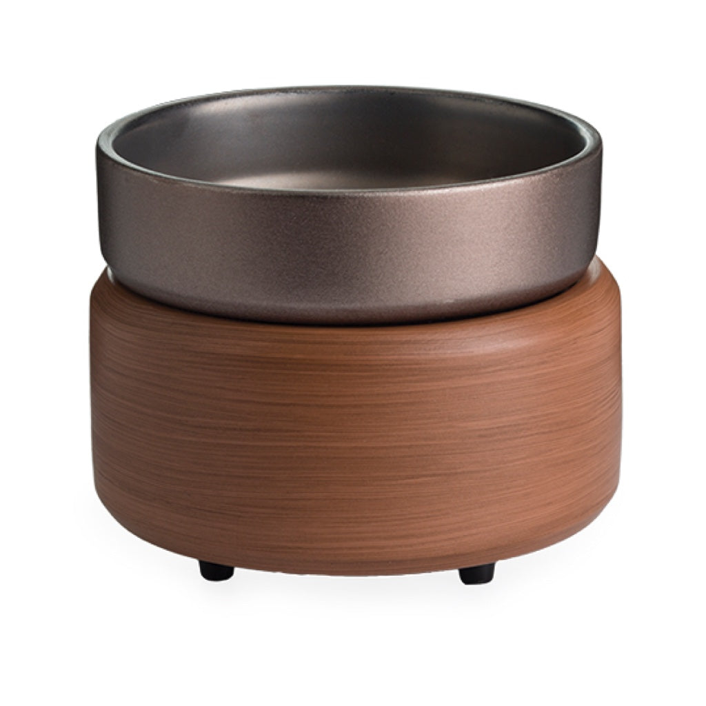 Candle Warmers 2-in-1 Classic Warmer Pewter Walnut