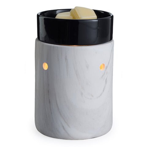 Candle Warmers White Marble Illumination Fragrance Warmer