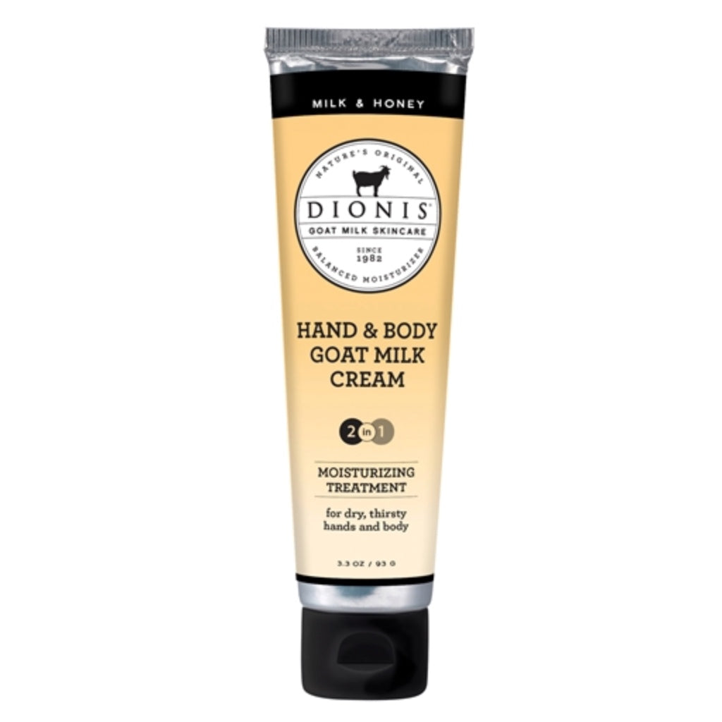 Dionis Goat Milk Hand & Body Cream - Milk & Honey 3.3 oz.