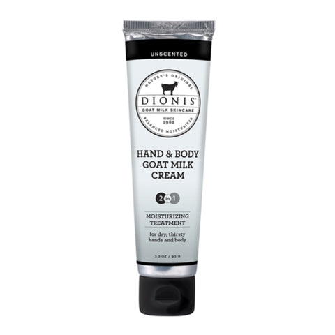 Dionis Goat Milk Hand & Body Cream - Unscented 3.3 oz.