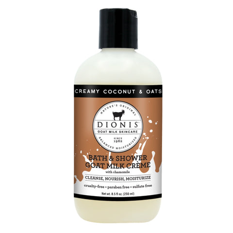 Dionis Goat Milk Bath & Shower Creme - Creamy Coconut & Oats 8.5 oz.