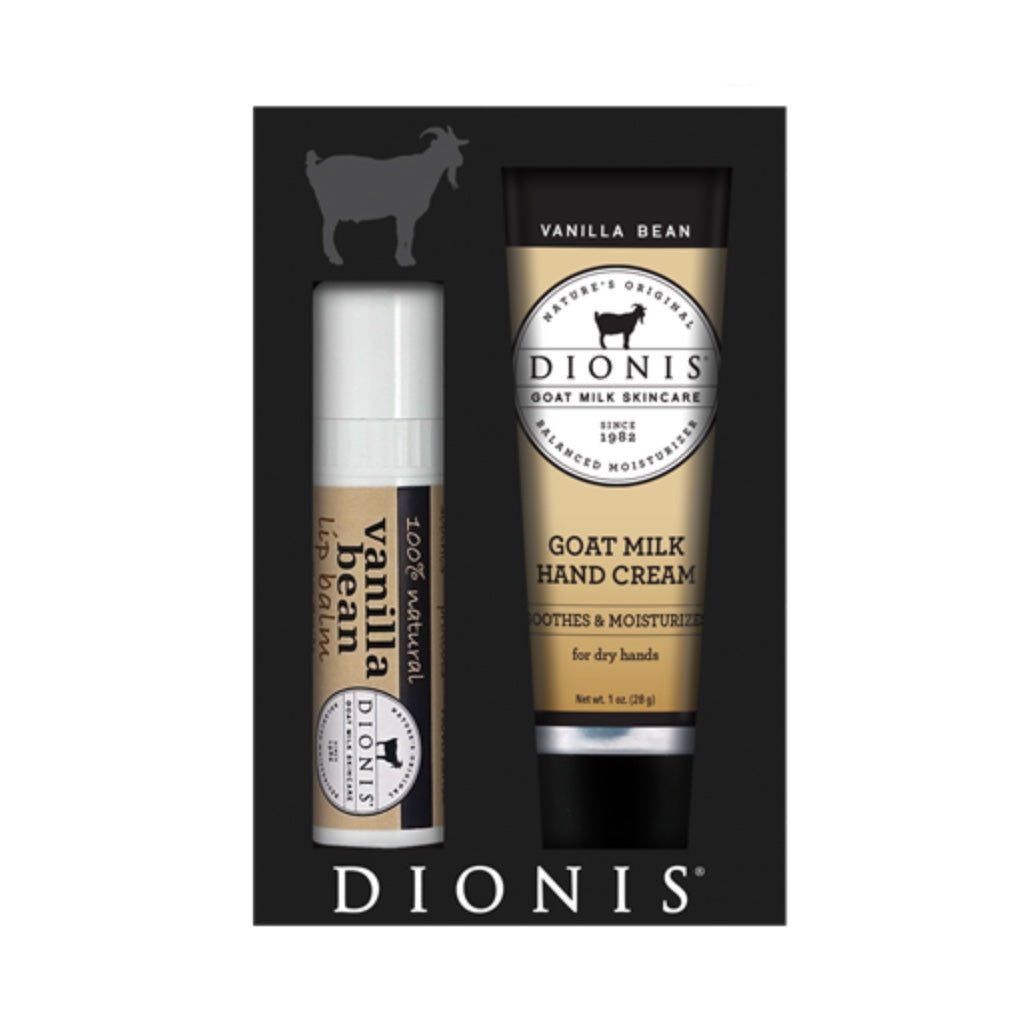 Dionis Goat Milk Hand Cream & Lip Balm Set - Vanilla Bean