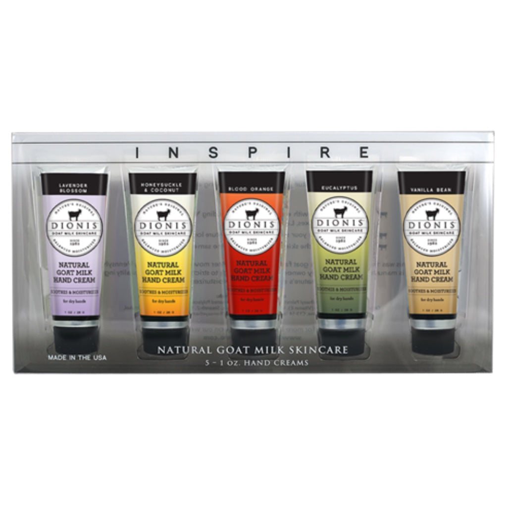 Dionis Goat Milk Inspire Hand Cream 5 pc. Gift Set