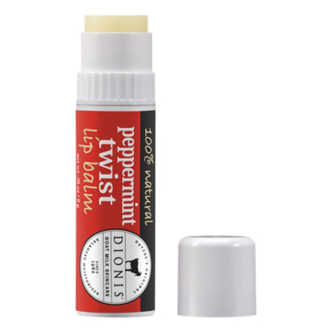 Dionis Goat Milk Lip Balm - Peppermint Twist .28 oz.