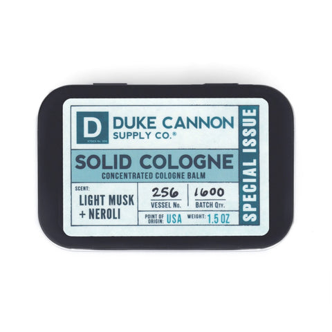 Duke Cannon Special Issue Solid Cologne -  Light Musk & Neroli 1.5 oz.