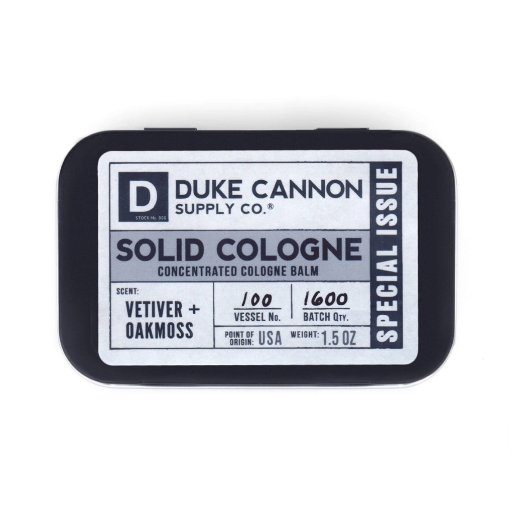 Duke Cannon Special Issue Solid Cologne - Vetiver & Oakmoss 1.5 oz.