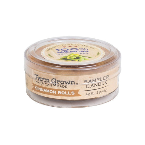 Farm Grown Cinnamon Rolls Sampler Candle 1.4 oz.