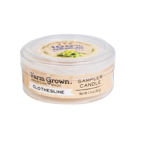 Farm Grown Clothesline Sampler Candle 1.4 oz.