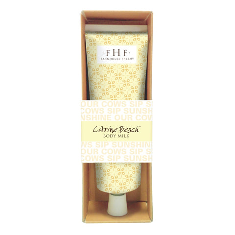 FarmHouse Fresh Citrine Beach Body Milk Cream 2 oz.