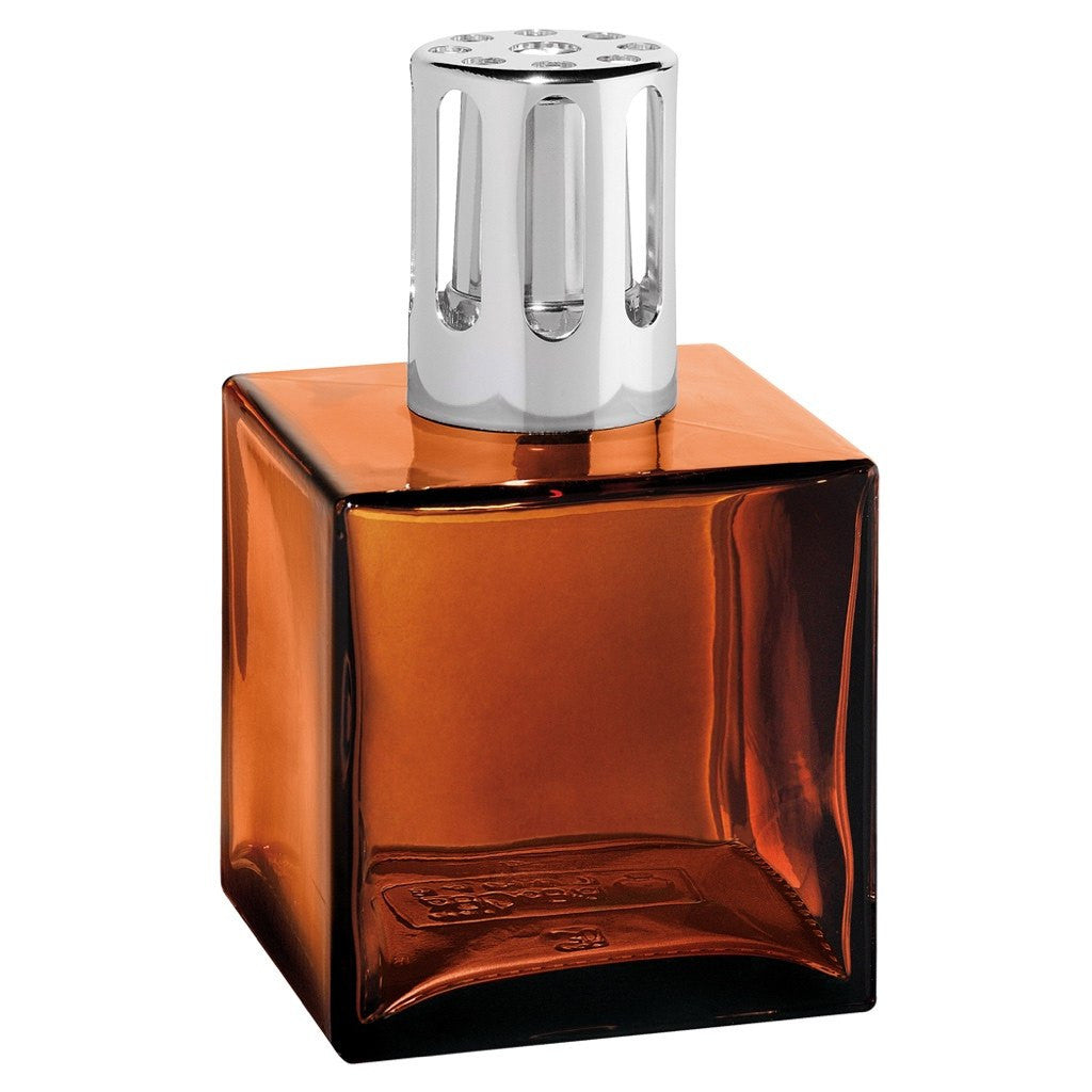 Cube Glass Lampe Berger Lamp - Amber