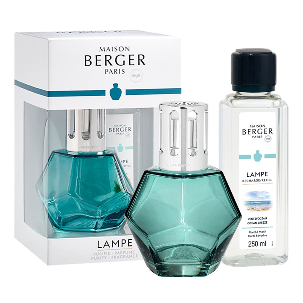Geometry Glass Lampe Berger Gift Set - Blue
