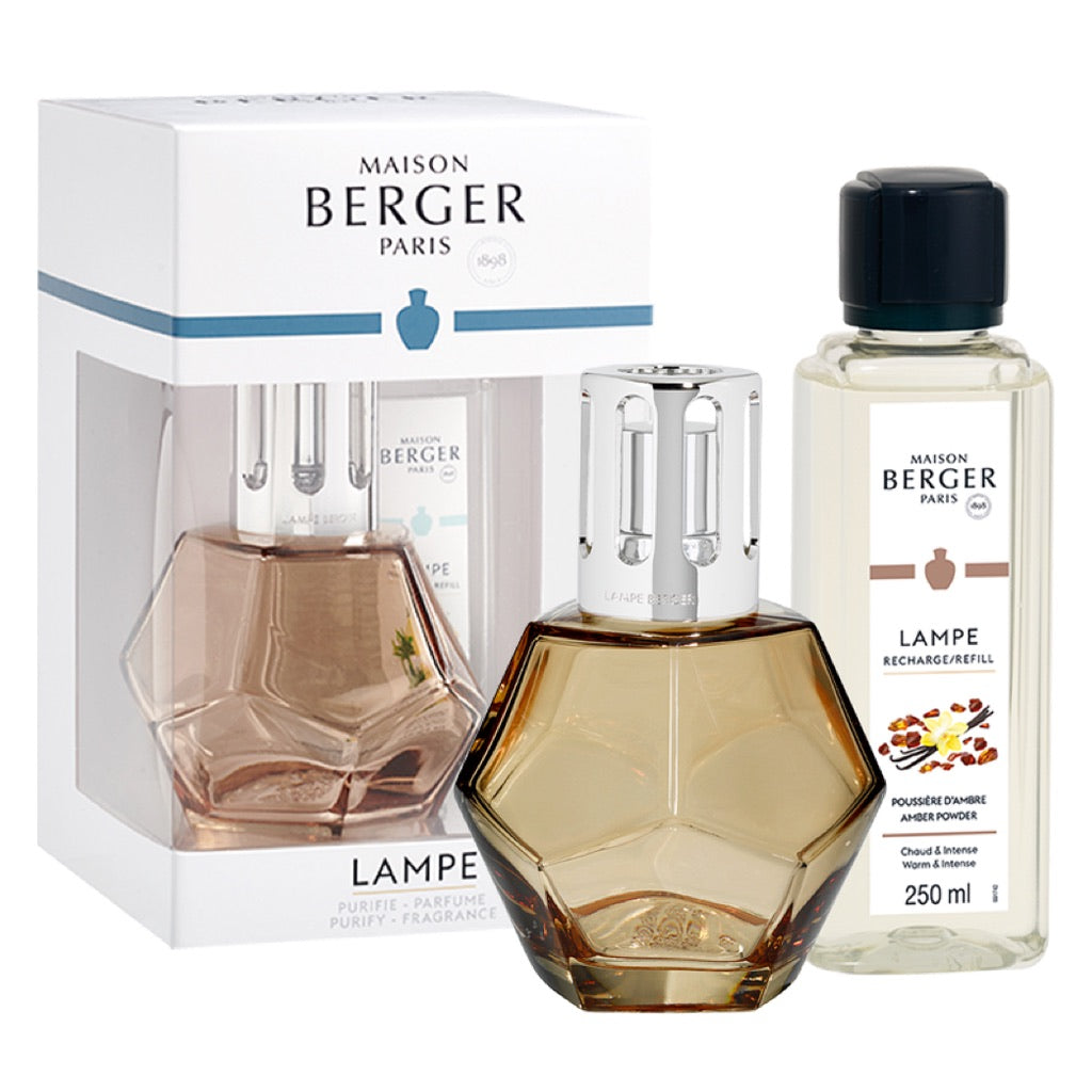 Geometry Glass Lampe Berger Gift Set - Honey