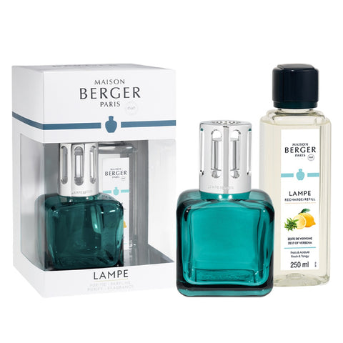 Ice Cube Glass Lampe Berger Gift Set - Green