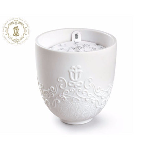 Lladro Volutes Candle - I Love You, Mom