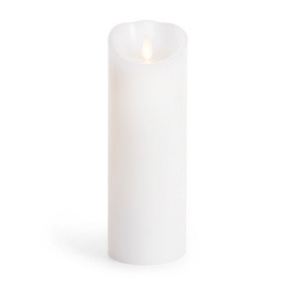 "Luminara Flameless LED Unscented White Pillar Candle 3"" x 8"""