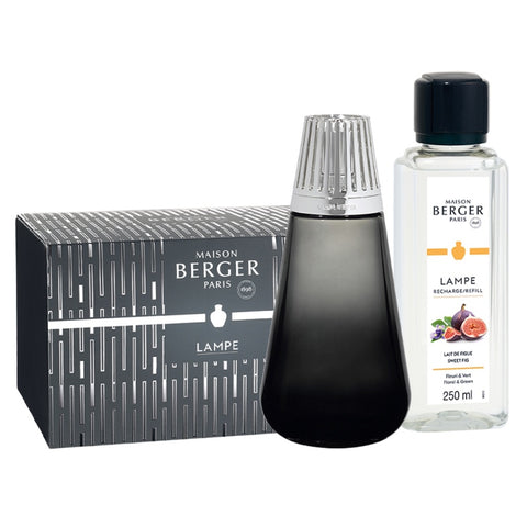 Amphora Glass Lampe Berger Gift Set - Black