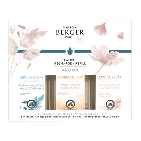 Lampe Berger Aroma Trio-Pack Fragrance Oil 180 ml Set