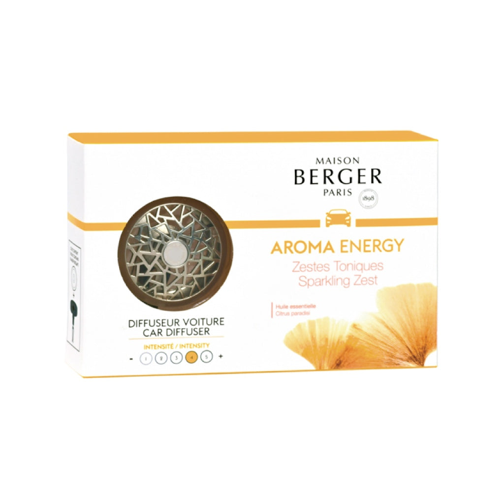 Maison Berger Aroma Energy Car Diffuser Set