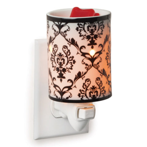 Candle Warmers Damask Porcelain Plug-In Fragrance Warmer