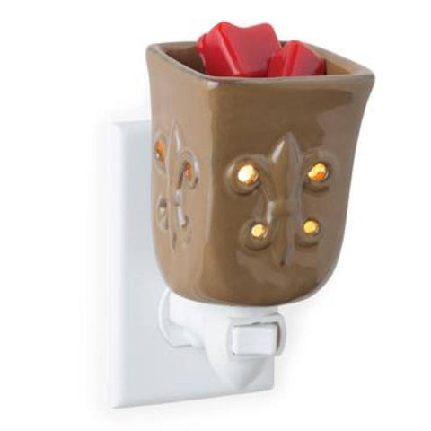 Candle Warmers Toffee Fleur de Lis Plug-In Fragrance Warmer