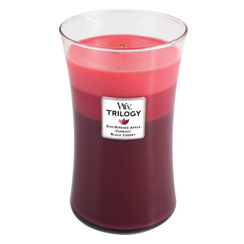 WoodWick Summer Fruits Large Trilogy Candle 22 oz.