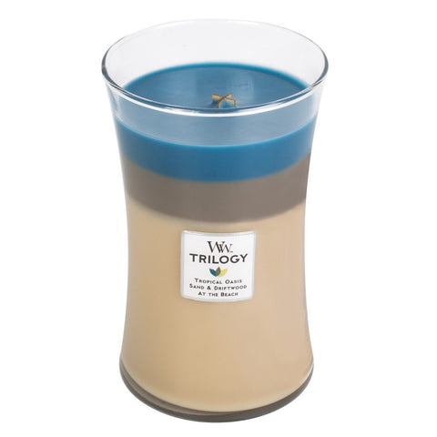 WoodWick Nautical Escape Large Trilogy Candle 22 oz.