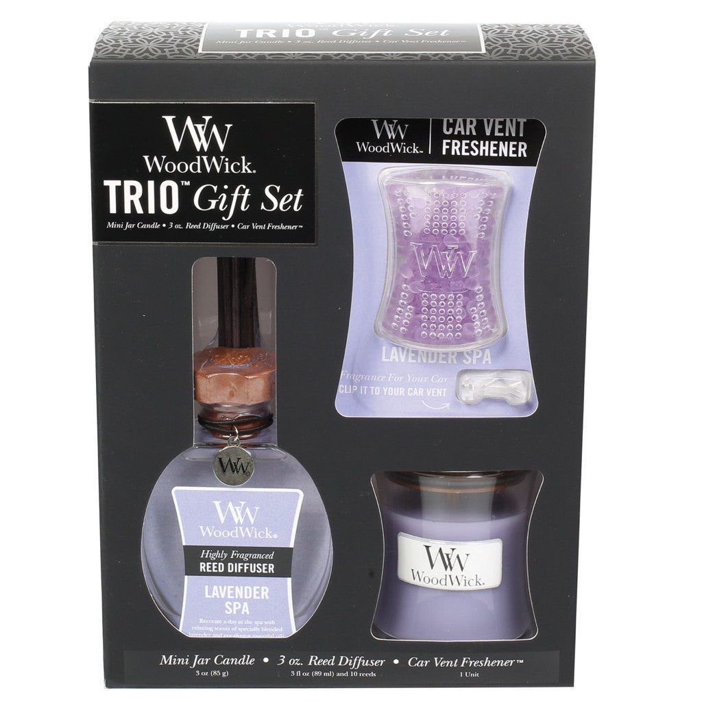 WoodWick Lavender Spa Trio Gift Set