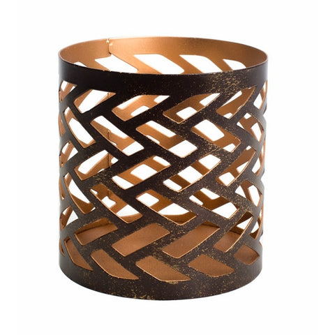 WoodWick Petite Candle Holder - Herringbone