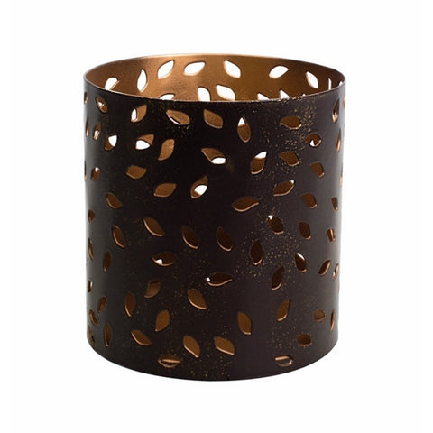 WoodWick Petite Candle Holder - Glowing Leaf