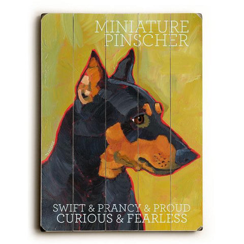 Mini Pinscher Wood Wall Decor by Ursula Dodge