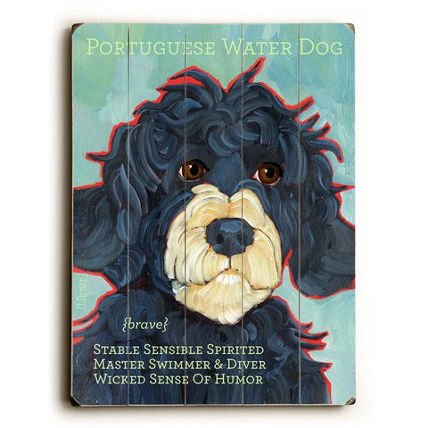 Portuguese Water Dog Wood Wall Decor by Ursula Dodge