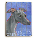 Italian Greyhound Wood Wall Decor by Ursula Dodge