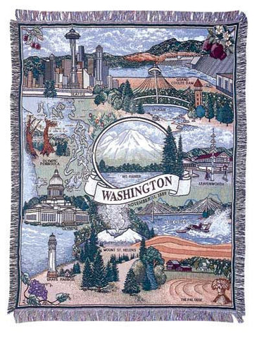 State Of Washington Tapestry Throw