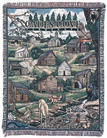 Cades Cove, Tennessee Tapestry Throw