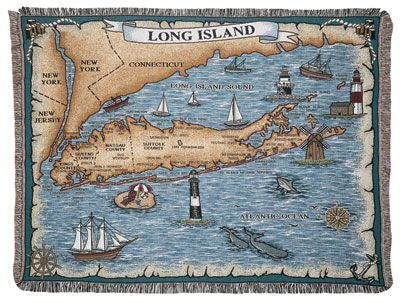 Long Island, New York Tapestry Throw
