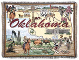 State Of Oklahoma Tapestry Throw