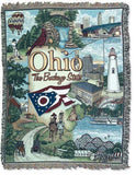 State Of Ohio Tapestry Throw