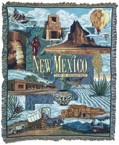 State Of New Mexico Tapestry Throw