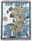 State Of New Jersey Tapestry Throw