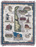 State Of Delaware Tapestry Throw