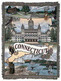 State Of Connecticut Tapestry Throw