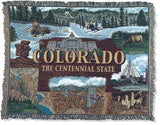 State Of Colorado Tapestry Throw
