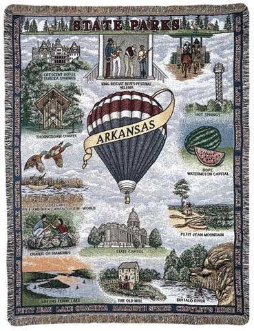 State Of Arkansas Tapestry Throw