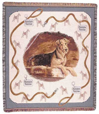 Airedale Terrier Tapestry Throw