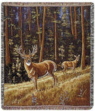 Whitetail Morning Mid-Size Tapestry Throw