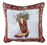 Happy Cowboy Christmas Pillow