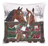 Horses Holiday Pillow